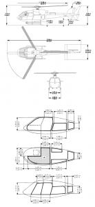 AS350 Abmessungen