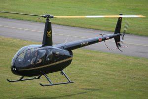 Robinson R44 Raven II im Anflug (by H. Thüner)