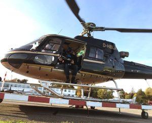 Hubschrauber Filmaufnahmen
